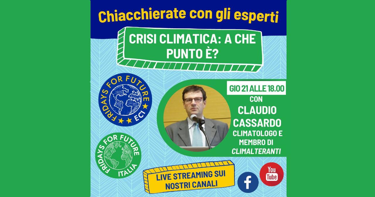 Webinar con Claudio Cassardo: la crisi climatica: a che punto è?