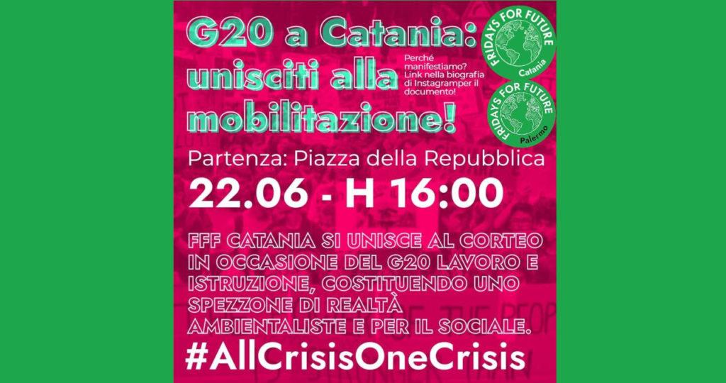 G20 a Catania: uniscita alla mobilitazione!