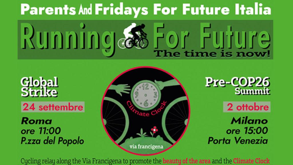 Running For Future: una staffetta ciclistica da Roma a Milano per far conoscere quanto tempo ci resta per agire