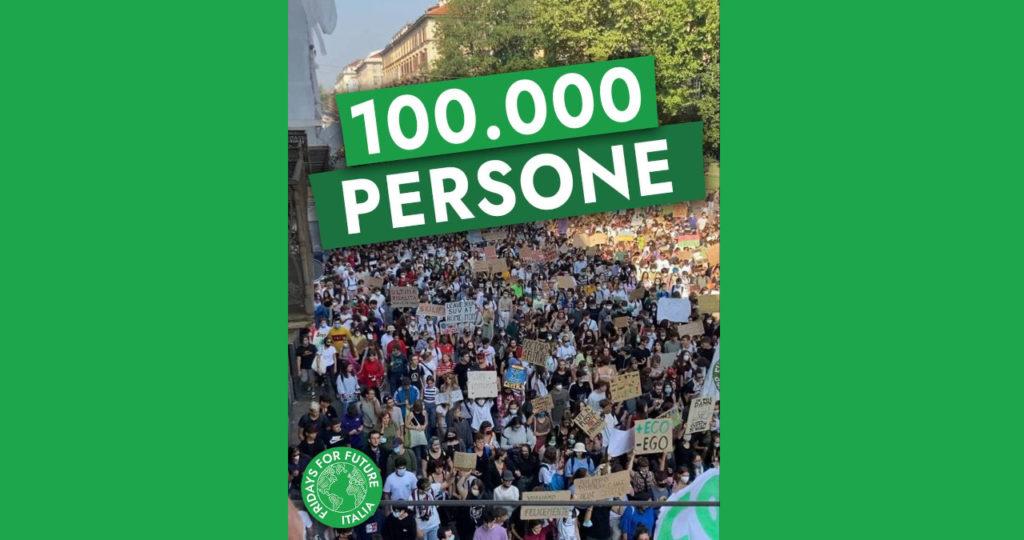100.000 persone in tutta Italia! Oltre ogni aspettativa